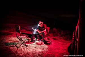 red or orange Camping light that won't attract bugs or insects