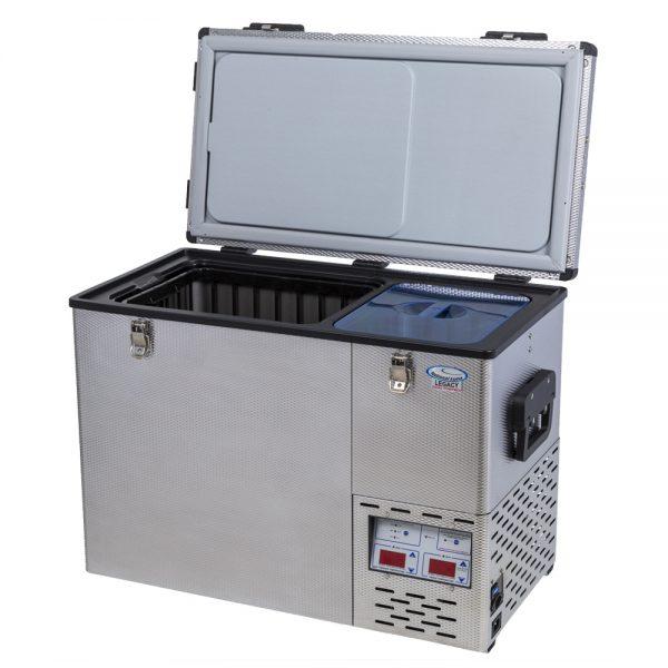 portable stainless steel fridge freezer